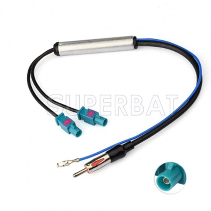 Système de diversité d'adaptateur amplifié par antenne d'antenne Radio double Fakra Superbat pour VW AUDI