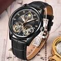 2020 LIGE мужские часы Механические Турбийон роскошные модные брендовые кожаные мужские спортивные часы мужские автоматические часы Relogio Masculino