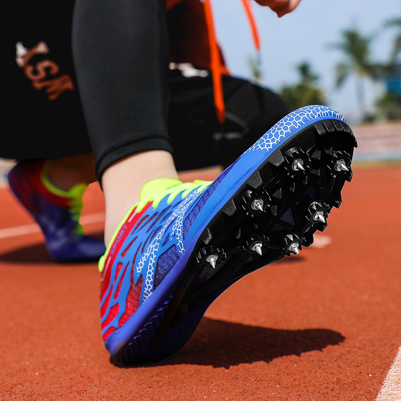 Men Women Spikes Sprint Shoes Professional Track and Field Shoes for Men Women Boys Girls Running Shoes with Spikes Sneakers