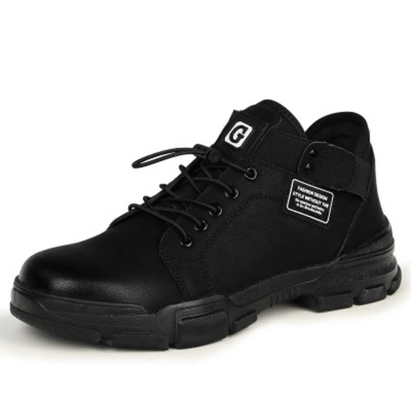 ฤดูหนาวรองเท้าประกันแรงงานชาย Anti-Smashing Anti-piercing ความปลอดภัยสวมรองเท้าลื่นสบายรองเท้าคุณภาพสูง