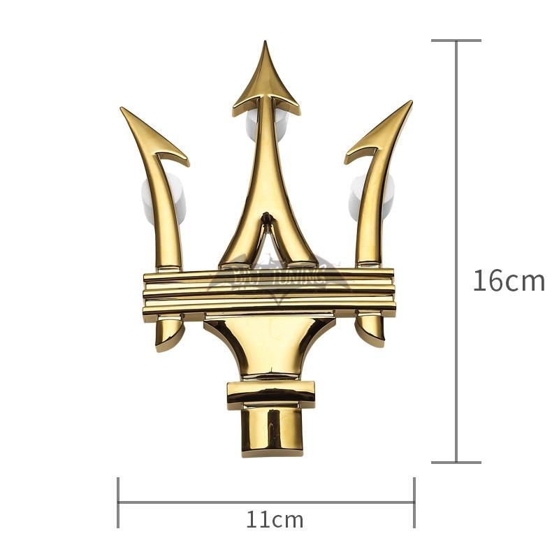 3PC SET Matte SILVE Emblem fit For Maserati RH /& LH Side Trunk Badges Nameplate