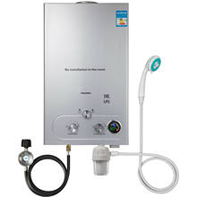 VEVOR-calentador de agua caliente de Gas propano, 12/16/18L, con cabezal de ducha, regulador de Gas de filtro de agua a petición