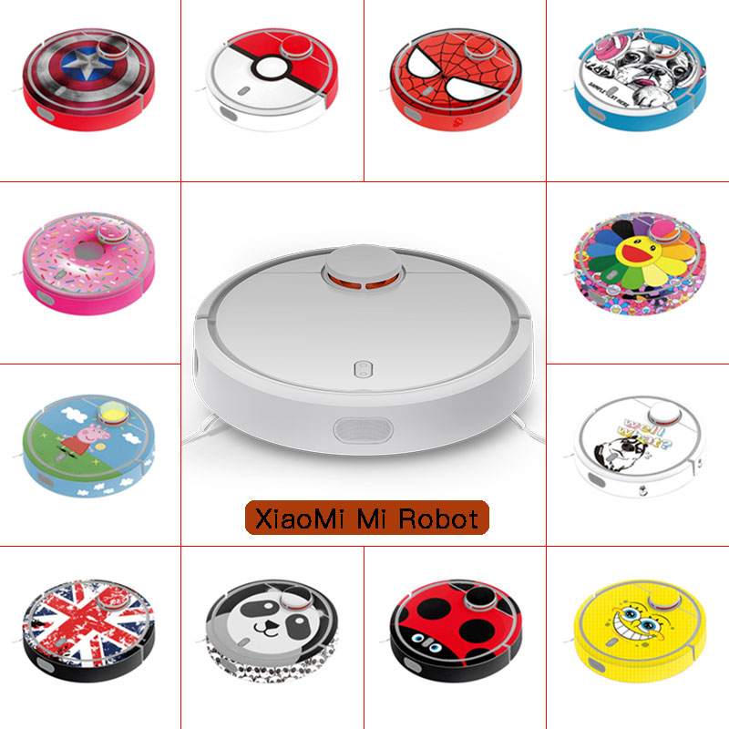 Provide Customized Custom Vinyl Cute Cartoon Sticker For Xiaomi Robot Mi Robotic SDJQR02RR Vacuum Cleaner Skin Spare Parts