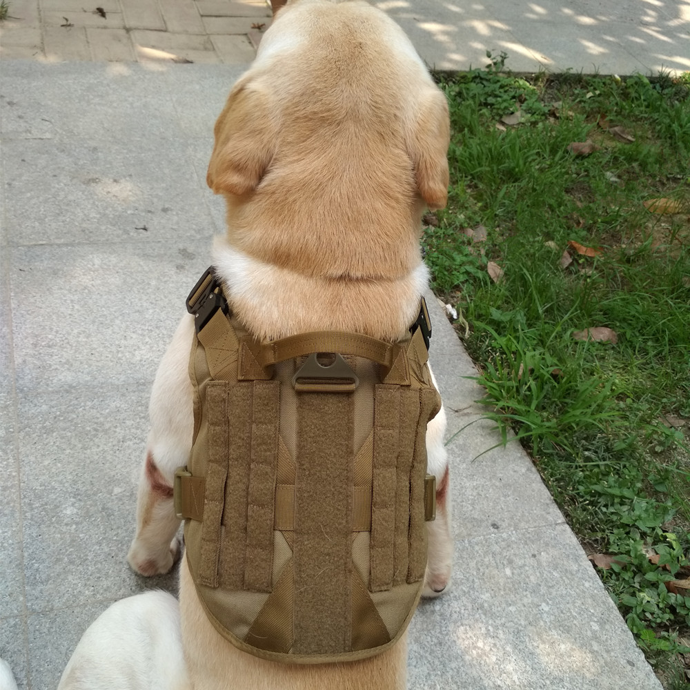 Tactical Military Breathable Dog Clothes Strap Adjustable Size Training Hunting Moor Dog Vest Harness German Shepherd