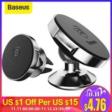 Baseus 자기 자동차 전화 홀더 자동차에 유니버설 자석 홀더 휴대 전화 홀더 스탠드 마운트 아이폰 X 8 7 작은 귀