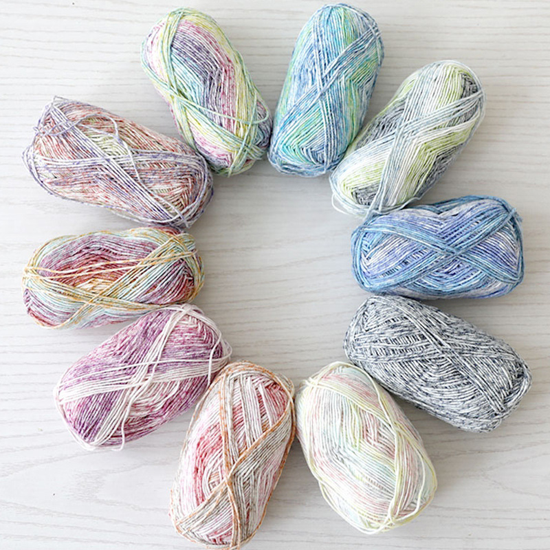 50g/Roll Colorful Natural Milk Cotton Thread Baby Yarn DIY Crochet Knitting Cotton Wool Thread 4 Strands Handmade Knitting Toys