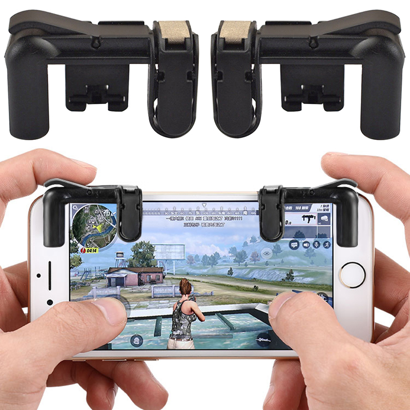 1 Pair Of Game Triggers ( Left+right ) Mobile Game Controller Handles Phone Game Trigger Button Aim Key L1R1 Shooter Controller