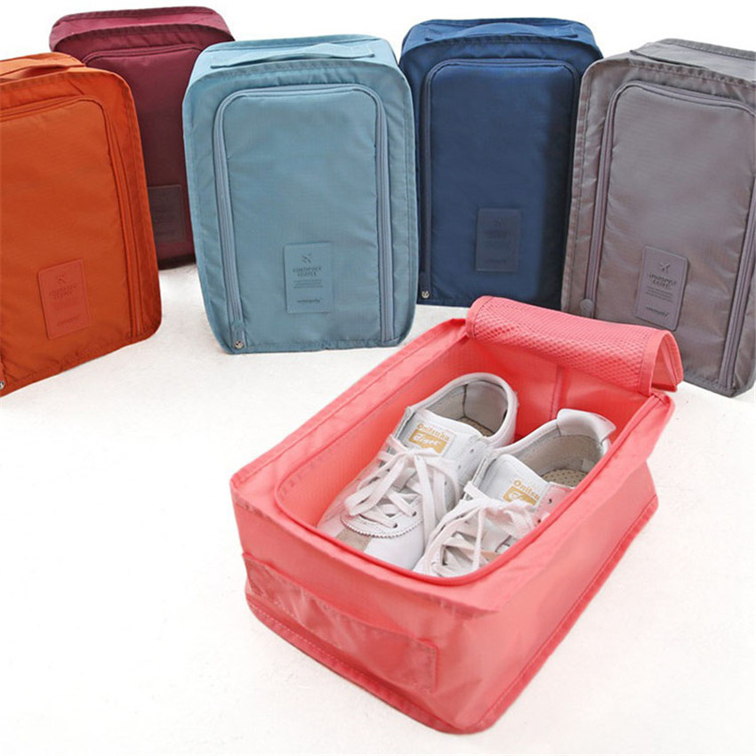 1PC Colorful Shoes <font><b>Storage</b></font> <font><b>Bags</b></font> Portable <font><b>Waterproof</b></font> Travel Shoe <font><b>Sock</b></font> <font><b>Clothing</b></font> Organizer Outdoor Sundry <font><b>Bag</b></font> Pocket 30*21*11.5cm image