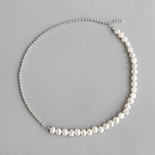 цена 925 Sterling Silver Pendant Necklaces Baroque Freshwater Pearl Choker Necklace Clavicle Necklace Pendants for Women Fine Jewelry онлайн в 2017 году