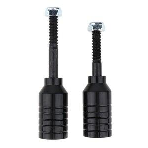 Image 5 - Scooter dublör kazıklar seti 2 adet alüminyum alaşımlı Scooter mandalları ve 2 adet karbon çelik akslar 55mm + 70mm ve 2 adet kilit somunları