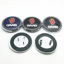 68 мм Автомобильный передний капот SAAB или задний бампер багажник значок эмблема наклейки с логотипом автостайлинг автомобильные аксессуары