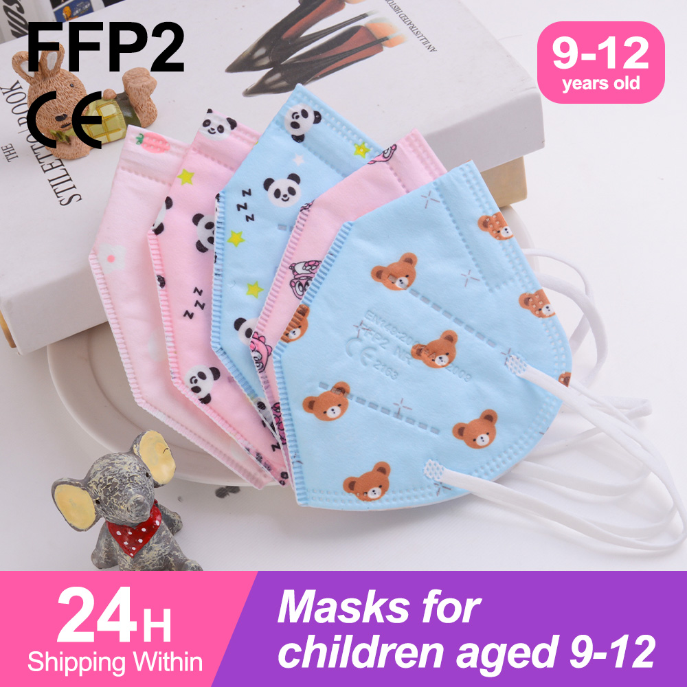 10-100 шт. Mascarillas FPP2 детей многоразового использования детская маска FFP2 дыхательных путей CE Ceritifacted защитный FFPP2 KN95 Детские маски
