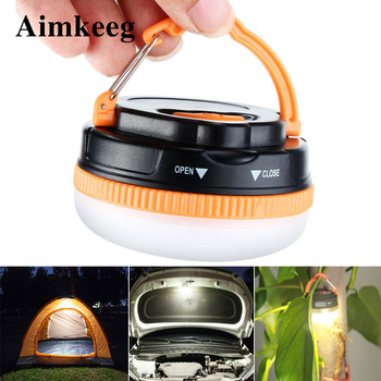 3W Mini Portable Camping Lights Outdoor Waterproof Super Bright Tent Lamp with Hook USB Rechargeable Light Battery