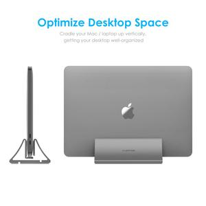 Image 4 - Aluminum Space Saving Vertical Desktop Stand for MacBook Air/Pro 16 13 15, iPad Pro 12.9,  Chromebook and 11 to 17 inch Laptop