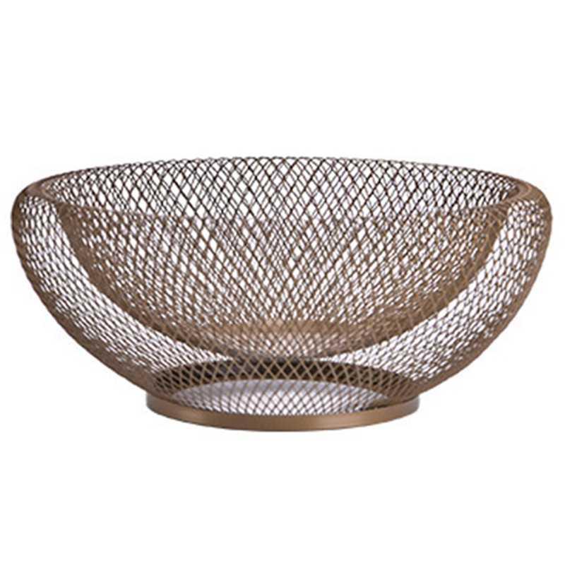 Abui-cesta de frutas de ferro forjado dupla camada estilo nórdico placa de armazenamento de doces de frutas secas inovadora bandeja de alimentos decoração de mesa