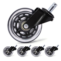 5pcs Office Chair Caster Wheels 3 Inch Swivel Heavy Duty Caster Wheels Replacement Soft Safe Rollers Furniture Hardware