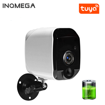 INQMEGA Wire-Free Wireless Powered Battery Camera Home Security 1080P Mini IP Camera WiFi Night Vision Camera Rechargeable TUYA