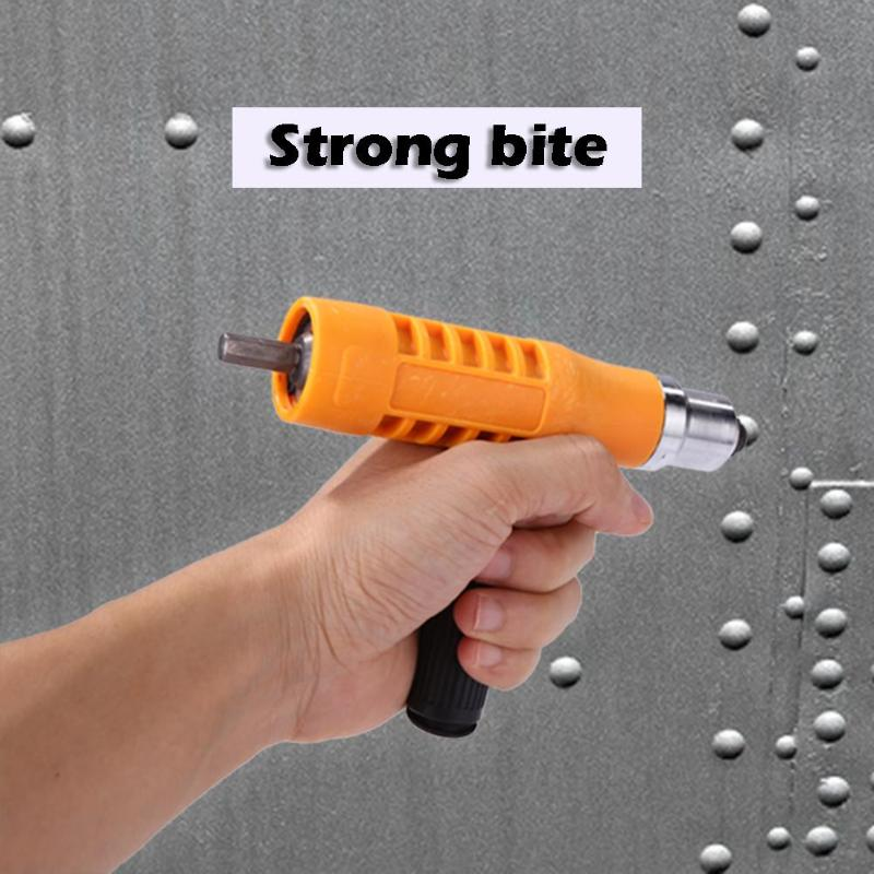 1PC Electric Rivet Nut Gun Riveting Tool Cordless Insert Riveter Adapter Kit Plastic Cordless Insert Nut For Power Tool
