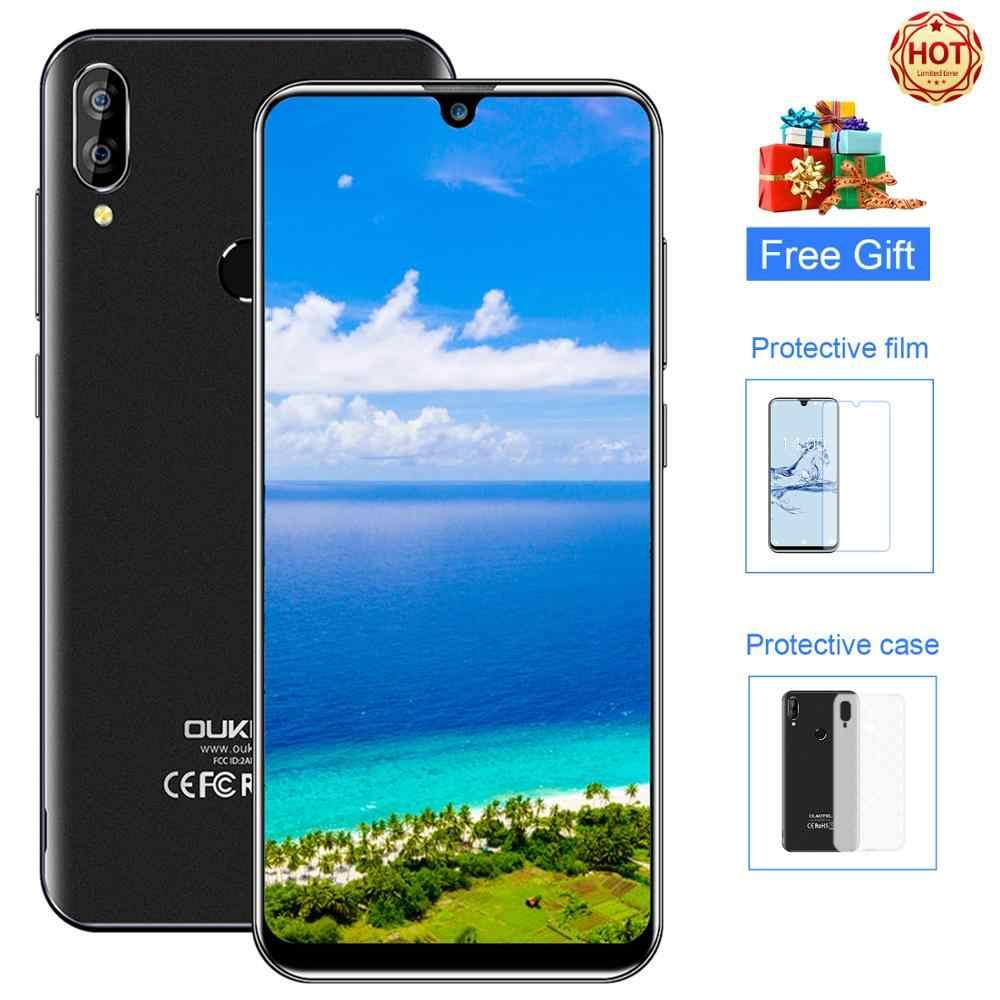"OUKITEL C16 Pro Smartphone 3GB RAM 32GB ROM 5,71 ""teléfono móvil 4G LTE 2600mAh huella dactilar Face ID Android 9,0 teléfono móvil"