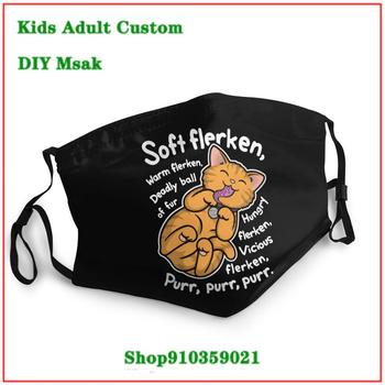 Latest design Masculina Soft Flerken Kitty Song Theory White washable reusable face mask kids masque facial lavable