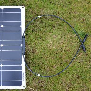 Image 4 - Dokio 12v 100ワット200ワット柔軟なソーラーパネルのための車/ボート/ホーム単結晶18vソーラーバッテリー防水ソーラーパネル中国
