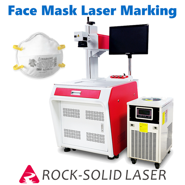 3W UV N95 Face Mask Laser Marking Machine 355nm Laser Marker Glass Cup Crystal Engraving Plastic Earbuds Lamp Gobo Lens