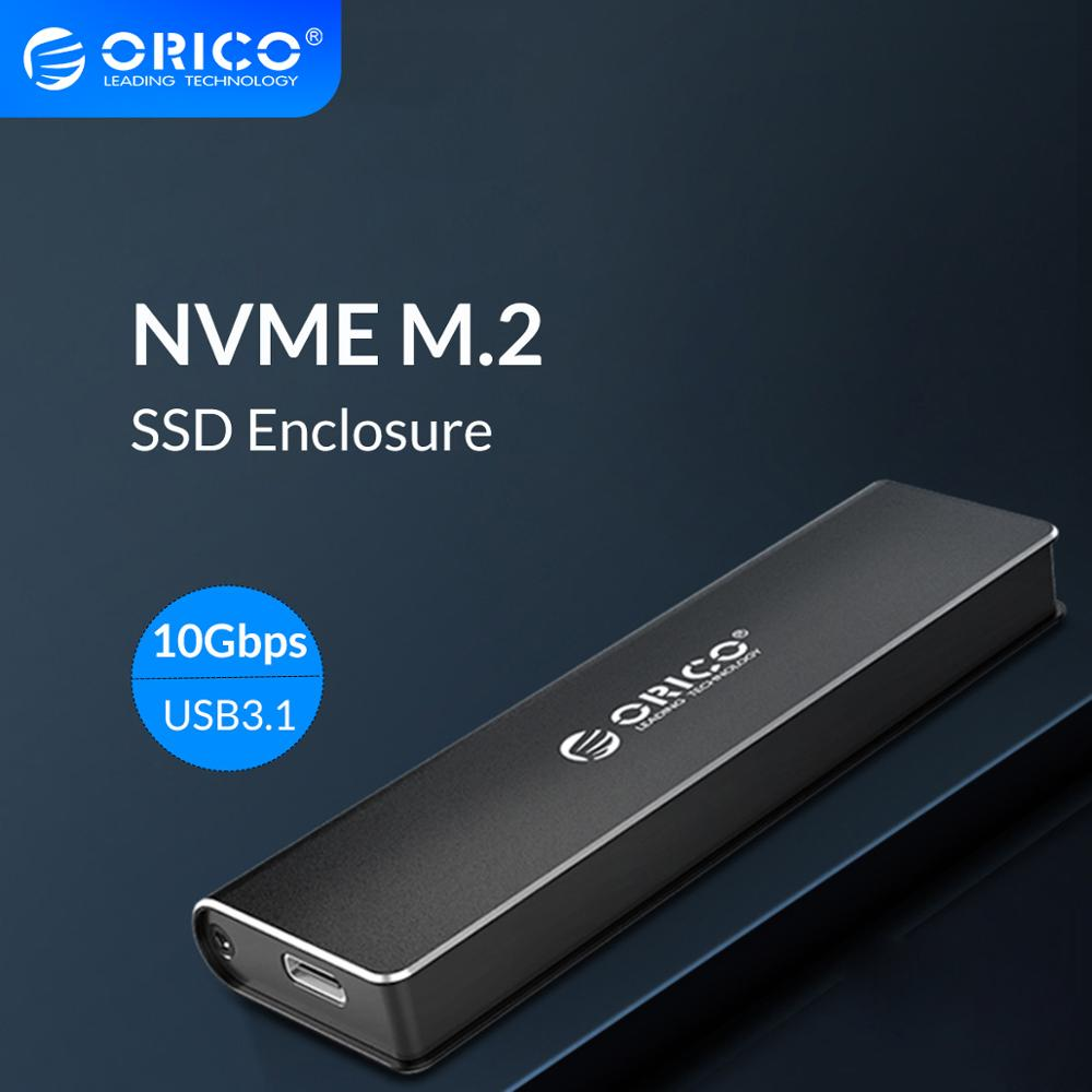 ORICO M 2 NVME SSD Enclosure Type C USB 3 1 Support 10Gbps UASP M 2 USB NVME SSD Case Aluminum Hard Drive Disk Box