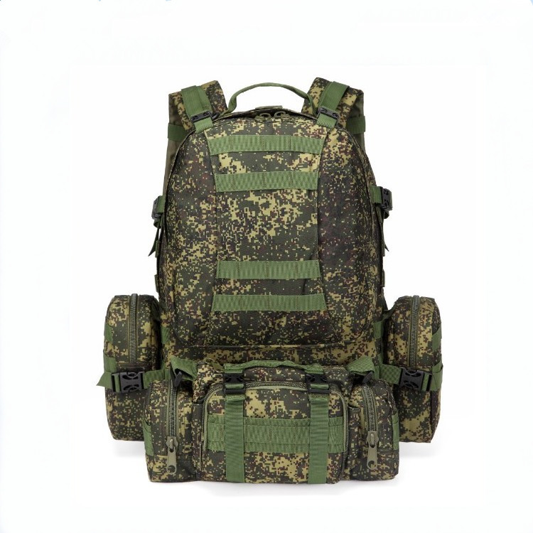Russian Fans EMR Camouflage Combination Mountain Climbing Special Tactical Backpack Men's Large Capacity 55 Liters Long-term Cur