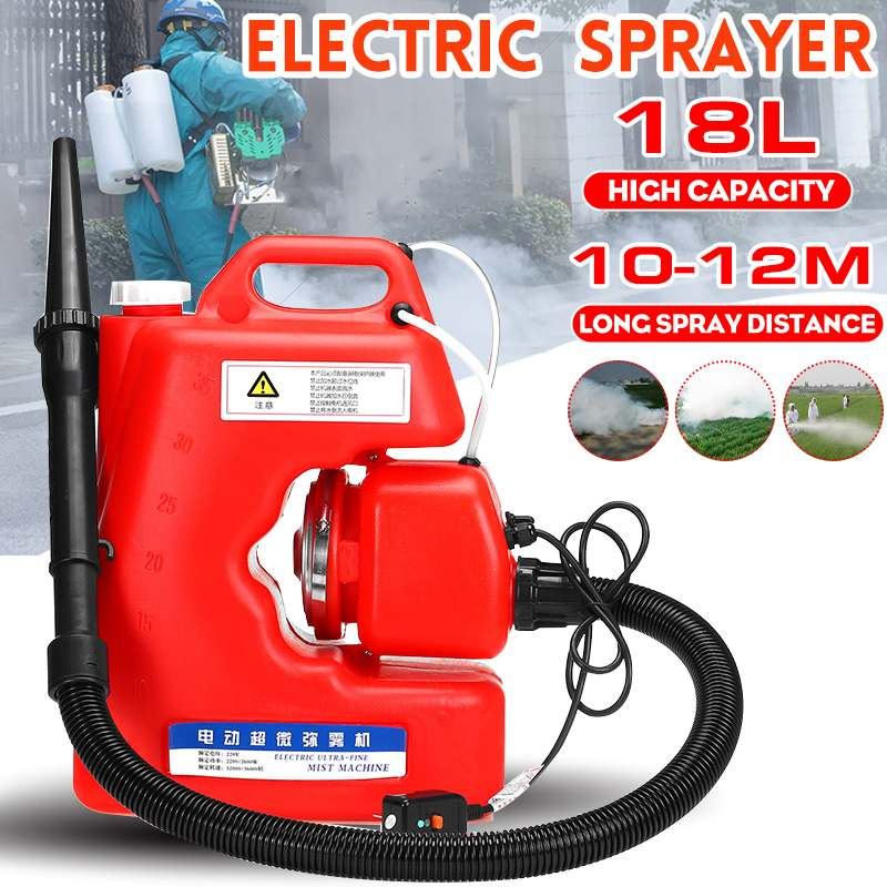18L 12M Distance Ultra Capacity Electric ULV Fogger Sprayer Mosquito Killer Disinfection Machine Insecticide Atomizer Fight Drug