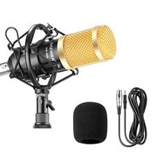 Nuevo NW-800 profesional Kit de micrófono con condensador: micrófono para computadora + montaje de choque + espuma Cap + Cable BM 800 micrófono
