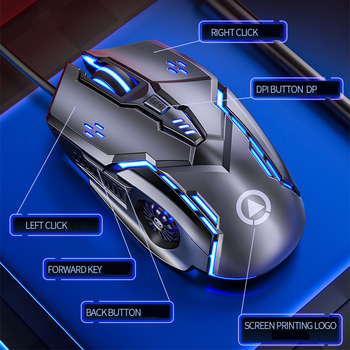 Gaming Mouse Wired Mouse 6D 4-Speed DPI RGB Gaming Mouse For PUBG Computer Laptop 7 Color Breathing Backlight Mouse Gaming Mice 2