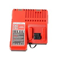 Li ion Battery Charger 110 240V Fast Lithium Battery Charger for Milwaukee M18 48 11 1815 48 11 1828 48 11 2401 48 11 2402|Power Tool Accessories| |  -