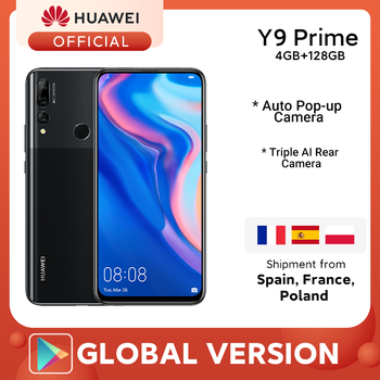 """In stock Global Version Huawei Y9 Prime 2019 Smartphone AI Triple Rear Cameras 4GB128GB Auto Pop Up Front Camera 6.59"""" cellphone"""