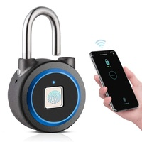 Bluetooth Security Biometric Fingerprint Padlock  keyless Smart Lock Waterproof phone APP Control USB rechargeable|Electric Lock|   -