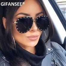 Очки авиаторы без оправы gifansee с заклепками роскошные винтажные
