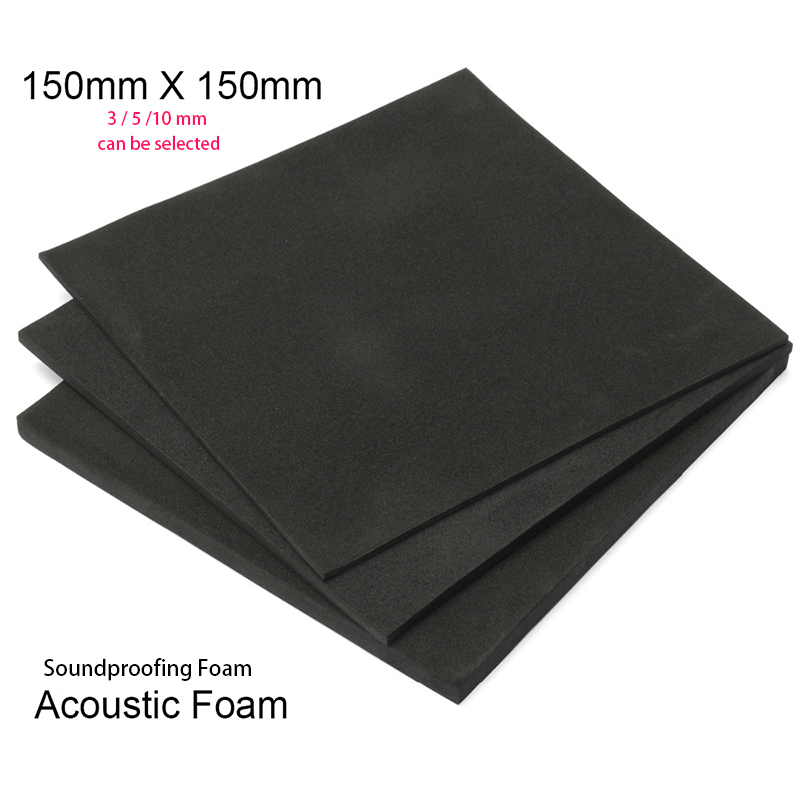 Soundproofing Foam 3/5/10mm Acoustic Foam 150x150mm Sound Treatment Studio RoomKTVAudio Absorption Wedge Tiles Polyurethane Foam