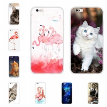 For Apple iPhone 5 5s SE Case Soft TPU Silicone 6 6s Cover Animal Patterned Coque Capa