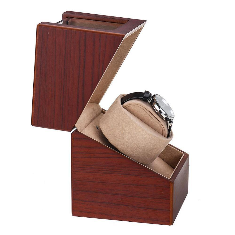 MDF matte finish Watch Shaker Watch Winder Case Holder Display Automatic Mechanical Brown Winding Jewelry accessories