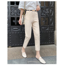 JUJULAND New  Plus Size Casual Harem Pencil Pants Women Spring Big Solid High waist Ankle Length 5445