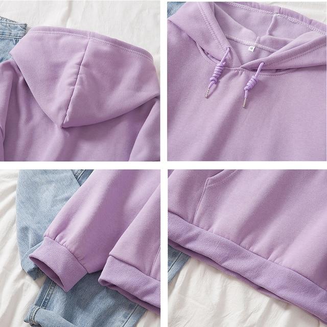 Cotton Sweatshirt Women Oversized Hoodie Female Harajuku Allergic To Stupid People Letter Print Sweatshirts Kpop Plus Size Tops 6