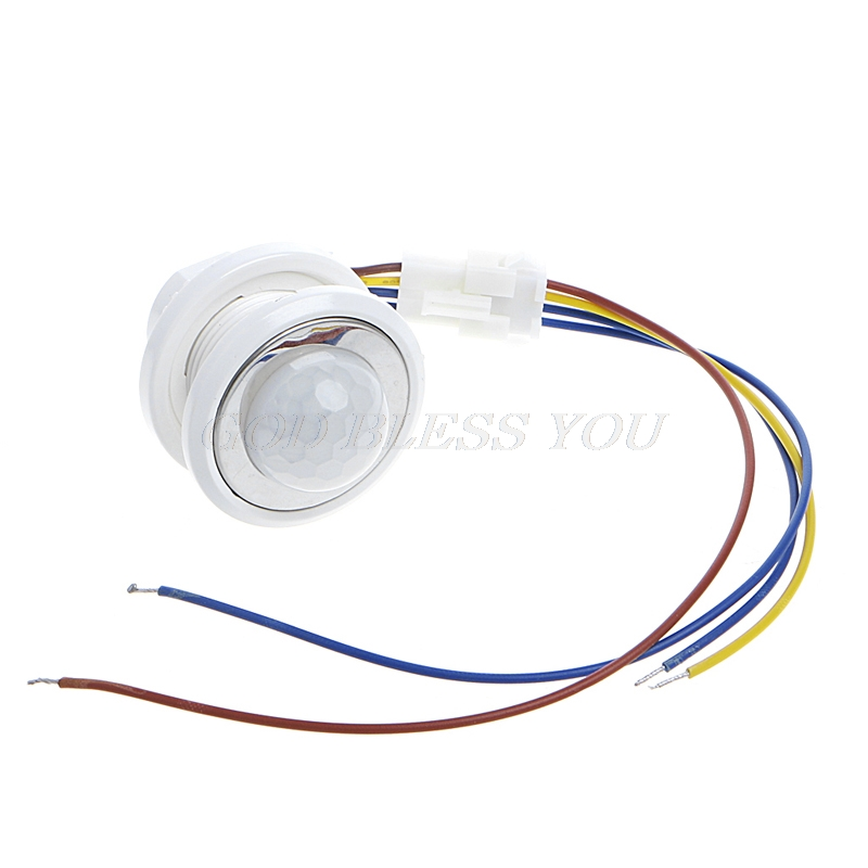 40mm LED PIR Detector Infrared Motion Sensor Switch With Time Delay Adjustable