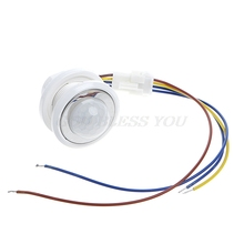 Interruptor infravermelho do sensor de movimento do detector de pir do diodo emissor de luz de 40mm com transporte ajustável da gota do atraso do tempo