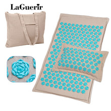 Eco-friendly Coconut fiber Linen massage mat lotus Spike Massage and Relaxation Relieve Stress Back Pain Acupressure Mat pillow(China)