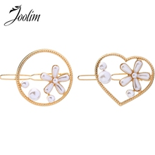 JOOLIM 2pcs/set Pearl Flower Hair Pins Jewelry Design Customized