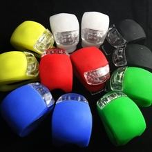 1 Uds. Luz frontal de silicona para bicicleta MTB, manillar, luz impermeable, linterna nocturna, luces de advertencia de bicicleta, accesorios