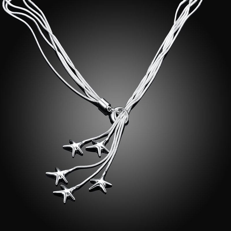 925 ensembles de bijoux en argent étoile de mer collier Bracelet ensemble de bijoux de mariage pour les femmes 2