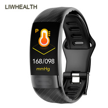 ECG PPG HR/BP Smart Band Watch HRV Form 24 H Fitness Tracker Bracelet Smartband For IOS/Xiaomi/Honor PK Mi Band 4/Verga 5 Not ip68 swim color touch smart watch hr bp o2 smart wristbands monitor fitness bracelet for ios xiaomi honor pk mi band 2 fit bit 3
