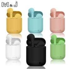 M & J Tws i7 מיני 2 אלחוטי אוזניות Bluetooth 5.0 אוזניות אוויר אוזניות דיבורית אוזניות עם טעינת תיבת עבור iPhone Xiaomi