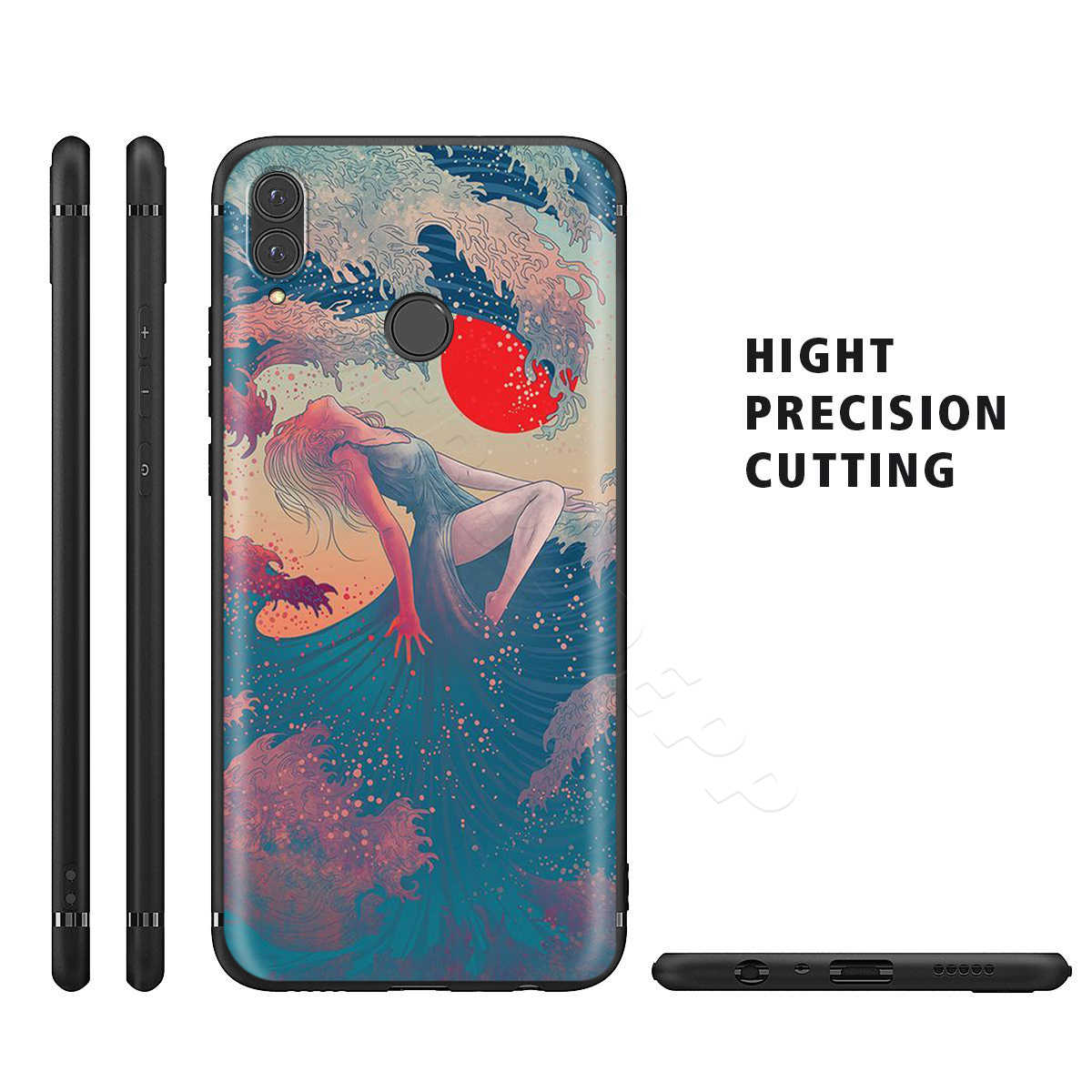Webbedepp Japanese Style Art Japan Case for Huawei Honor 6A 7A 7C 7X 8 8X 8C 9 9X 10 20 Lite Pro Note View