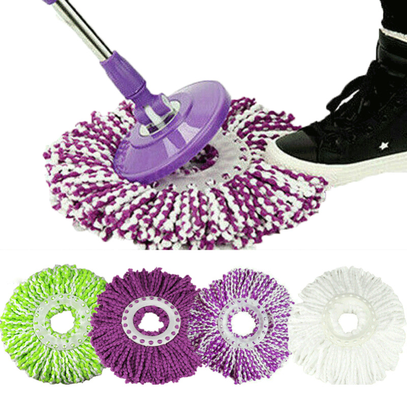 1pc Mop Head for Household Cleaning New Replacement 360 Rotating Head Easy Magic Microfiber Spinning Floor Mop Head